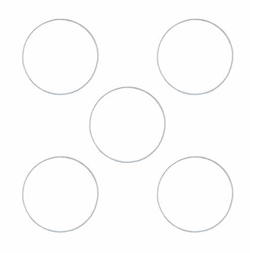 Creleo 791695 5 Drahtring Metallring für Traumfänger, 25 cm, weiß