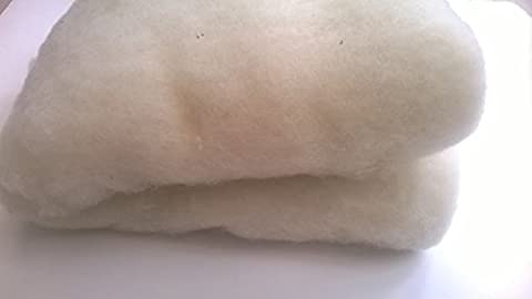 Carded Wool Batts - Core Wool (200g (Large), White)