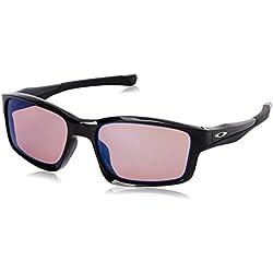 Oakley - Gafas de sol Rectangulares Chainlink, Polished Black/G3 Iridium (S2)