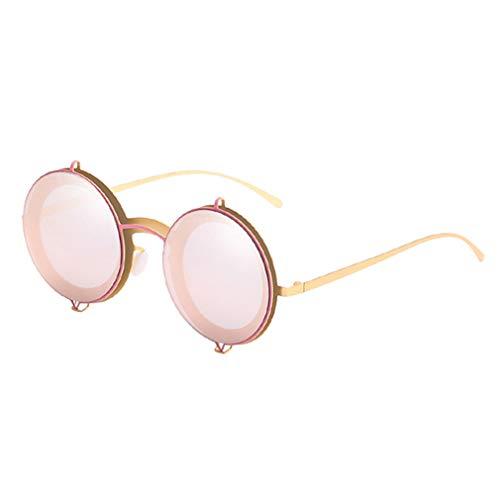 e2d14684d0 Mxssi Moda Nuevas Gafas de Sol Redondas Mujeres Hombres Vintage PC Marco  Rosa Amarillo Lente Colorido