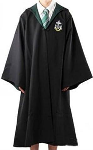 Harry Potter Kostüm Jünger Erwachsene Gryffindor Slytherin Ravenclaw Hufflepuff Adult Child Unisex Schule lange Umhang Mantel Robe--Slytherin,XL for (Harry Potter Umhang)