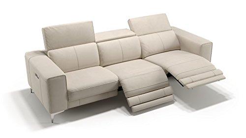 Leder 3-Sitzer XXL Sofa Couchgarnitur Couchgarnitur Ledersofa TV Funktionssofa Relaxcouch
