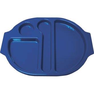 Kristallon U038 Nourriture plateaux Compartiment, Bleu (lot de 10)