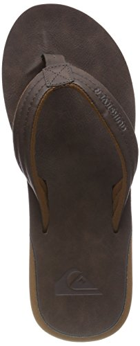 Quiksilver Carver Nubuck-Sandals For Men, Zapatos de Playa y Piscina para Hombre, Marrón Demitasse-Solid...