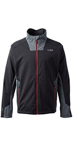 Gill Race Softshell Coat Mantel Graphit - Leichte thermische Materialien. Wasserdicht und atmungsaktiv Race Softshell