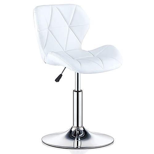 GYM Drehstuhl barstuhl Bürostuhl 360 ° drehbarer Barhocker Galvanikrahmen Drehstuhl Schönheitsrollenhocker nach Hause Verstellbarer Stuhl (Color : White, Size : 47 * 40cm) -