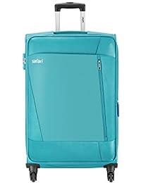 Safari Polyester 77 cms Teal Softsided Check-in Luggage (SAVAGE774WTEA)