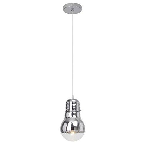 Brilliant Bulby Pendelleuchte 15cm chrom/transparent Glas, 1x E27 geeignet für Normallampen bis max. 42W