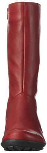 Think - Inua, Stivali e stivoletti alti imbottiti caldi Donna Rosso (Rot (Rosso 70))
