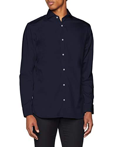 JACK & JONES PREMIUM Herren Businesshemd JPRCOMFORT Shirt L/S NOOS, Blau (Navy Blazer Fit:Comfort Fit), Large