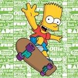 Jerry Fabrics JF0258 Dekorative Wurfkissen für Kinder,Das Simpsons-Charakter-Kissen, Polyester, Hellgrün, 40 x 40 x 5 cm