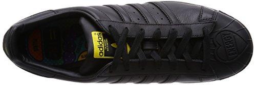 adidas Herren Superstar Foundation Laufschuhe Schwarz (Core Black/Yellow)
