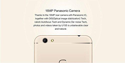Oukitel U15S - Android 6.0 4G smartphone 4GB RAM 32GB Octa Core 1.5GHz 5.5 pulgadas FHD IPS Pantalla 8MP + 16MP cámara huella digital Ultra delgado - Oro