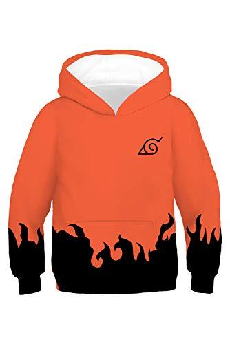 n Mädchen Kapuzenpullover Sweatshirt Hoodie Print Pulli Tops Jacke Pullovershirt Sweatjacke Outwear Oberteile Pullovershirt Hatake Kakashi Naruto ()