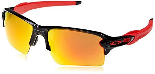 Oakley Herren Flak 2.0 Xl 918880 59 Sonnenbrille, Schwarz (Polished Black/Prizmruby),