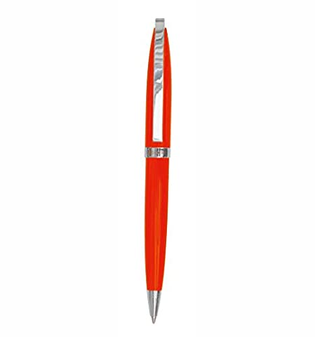 Stylo à Bille 'NEW CLASSIC' emballé dans un boitier - orange +++ Stylo-bille à MINE NOIRE normée 'SWISS MADE' +++ qualité originale