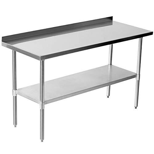 Edelstahltisch Arbeitstisch Küchentisch Edelstahl mit Aufkantung 120 cm,150 cm, 180 cm