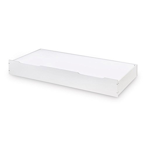 Happy Beds Ellie Trundle Wooden White Underbed Storage Drawer Frame 3' Single 90 x 190 cm