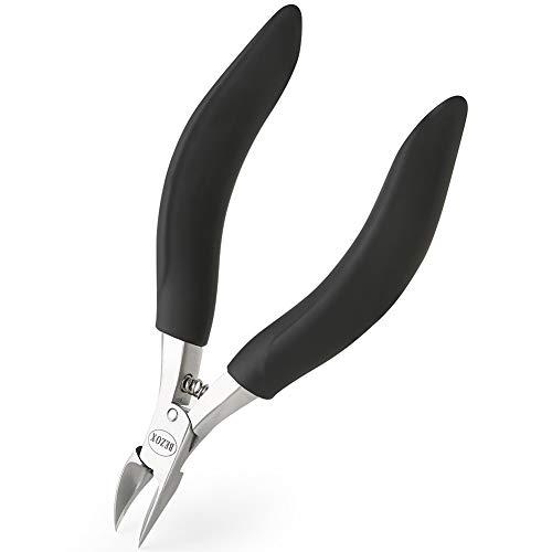 BEZOX Tronchesino Tagliaunghie di Precisione per Piedi per Unghie Spesse o Incarnite con Custodia in Metallo