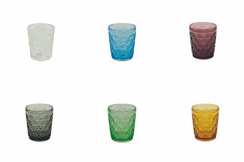 Villa d 'Este Home Tivoli Marrakesch Wassergläser-Set, Mehrfarbig, 6Einheiten