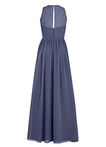 Dresstells, Robe de soirée sans manches, robe de cérémonie, robe longue de demoiselle d'honneur Bleu Saphir