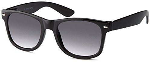 MOKIES Unisex Sonnenbrillen - UV400 Filterkategorie 3 CE Kennzeichnung - Wayfarer Design - Polycarbonat - mit Federscharnier - 101 Grau verlaufend