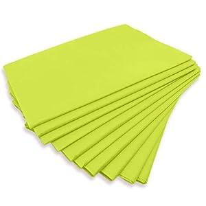 """Physiofit24 ® Waschfaserlaken""""PP70″ 10 Stück Vlieslaken""""LIMONE"""" (grün/gelb) 80×210 cm Waschfaserlaken Waschvlies (bis zu 400x WASCHBAR) Vliestuch Auflage für die Massageliege waschbar 10 St."""