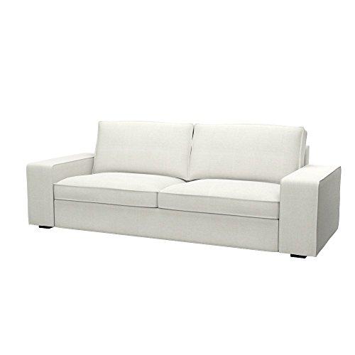 Soferia - IKEA KIVIK Funda para sofá de 3 plazas, Elegance Ecru