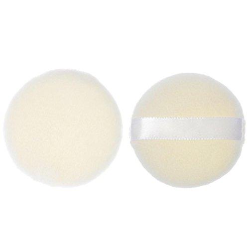 Maquillage Eponges, Kingwo 1 PC Forme ronde Pro Beauty Super doux Éponge (Blanc)