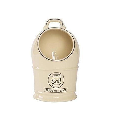 T & G Pride of Place Salt Jar/Cellar Old Cream