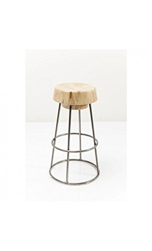 Kare design - Tabouret de bar assise bois et acier PARTY TIME