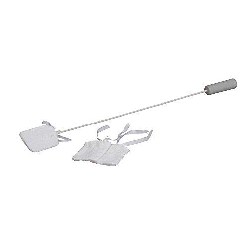 Behrend Zehenreiniger, Fusspflege, Hilfsmittel, 71 cm, Kunststoffgriff, 2 Ersatzbezüge
