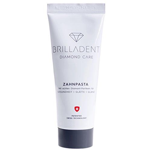 Brilladent Diamant-Zahnpasta | 1 Tube (1 x 75 ml) | Ideal gegen Paradontose, Paradontitis & Zahnstein | schont die Zahnoberflächen | niedriger Abrasionswert | verzögert Plaque | weisse Zähne -