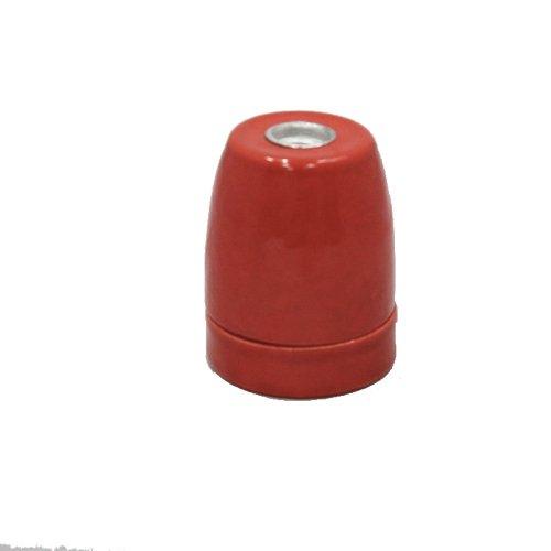 Fassung E27Porzellan rot