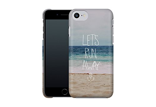 Handyhülle mit Designs für Sie: iPhone 7 Hülle / aus recyceltem PET / robuste Schutzhülle / Stylisches & umweltfreundliches iPhone 7 Case - Apple iPhone 7 Schutzhülle: Graphic 3 von Mareike Böhmer Let's Run Away: Sandy Beach von Leah Flores