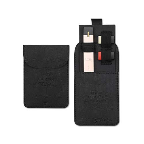 osfanersty Portafoglio in pelle ultra sottile con tasca per riporre JuUL  Pods per MYLE Pod System Vape Pen Kit Nero Nero 12X8 5CM