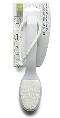 QVS Pediküre Feile Keramik, weiß, 1er Pack (1 x 1 Stück)
