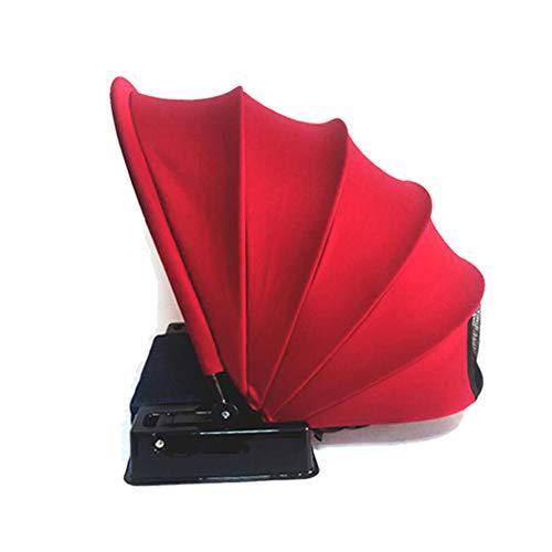 Crewell 1 Stück tragbarer Gesichts-Sonnenschutz, Sofort-Strandzelt, Outdoor Mini Matte Shelter rot