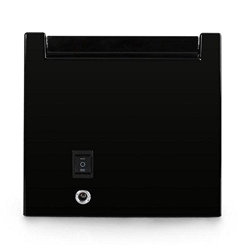 Klarstein 8PT1S Uhrenbeweger Uhrenbox (für 1 Uhr, linkslauf/rechtlauf, Sichtfenster, Kunstleder Inlay, flüsterleiser Motor) schwarz-Pianolack - 5