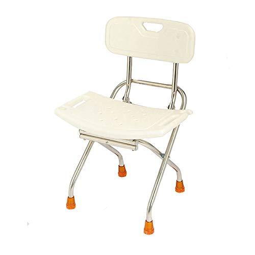 Edelstahl Duschstuhl, Klapp Bad Stuhl Ältere/Behinderte/Schwangere Rückenlehne