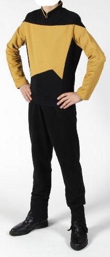 Star Trek Next Generation Uniform - Oberteil super deluxe Baumwolle (Medium, gold)