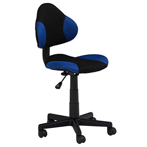 IDIMEX Kinderdrehstuhl Schreibtischstuhl Drehstuhl Alondra, schwarz/blau