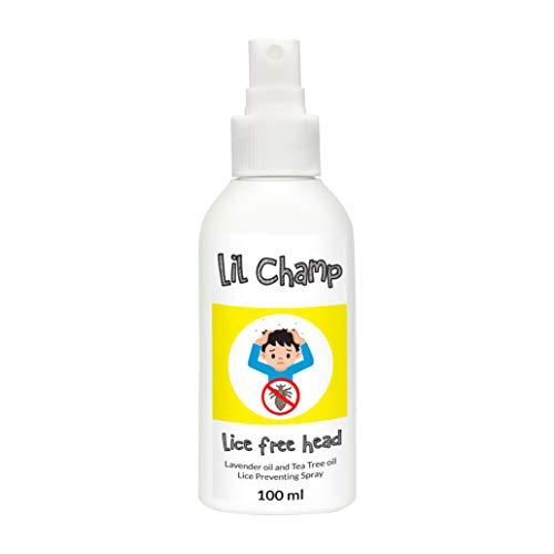 Läuse spray von LIL CHAMPS KIDS | Hitzeschutz für Haare und Läusemittel gegen Läuse | Aloe vera, Teebaumöl 100ml | Alternative zum läusekamm