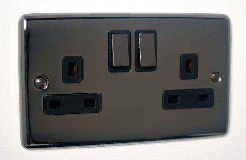 black-nickel-super-slim-2gang-plug-socket-definition