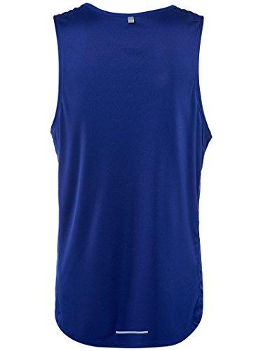 MILER Uomo Nike Running Canotta Blau (Tief Royal Blue / Reflective Silv)