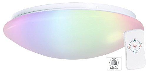 farbwechsel deckenleuchte Luminea LED Panel RGBW dimmbar: Dimmbare RGBW-LED-Wand- & Deckenleuchte, Fernbedienung, 1.100 lm, 15 W (LED Deckenleuchte RGB dimmbar)