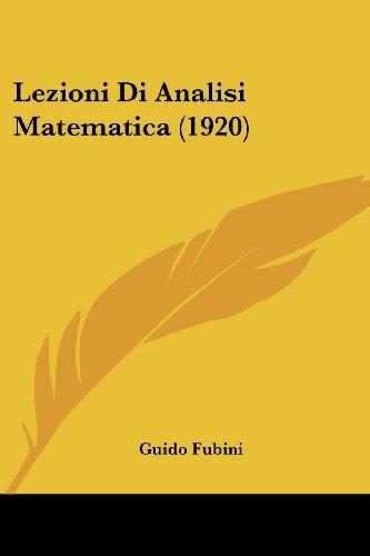 Lezioni Di Analisi Matematica (1920)