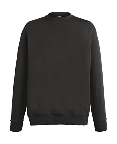 Fruit of the Loom Herren Sweatshirt Lightweight Set-in Sweat Light Graphite