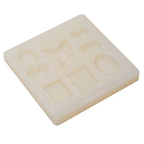 Generic Cuore Forma Pendente Ciondoli Muffa Stampo Vassoio Silicone In Resina Creazione Gioielli Artigianale DIY - Resina Charm