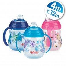 Designer Series Grip N 'SIP von Nuby Alter 4-12M Mädchen/Jungen BPA-frei (türkis) - Sip-serie